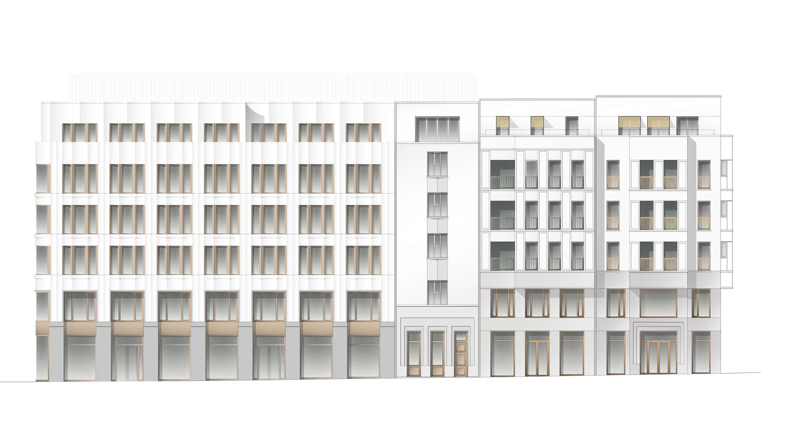 Bernsteincarré Fassade Planung