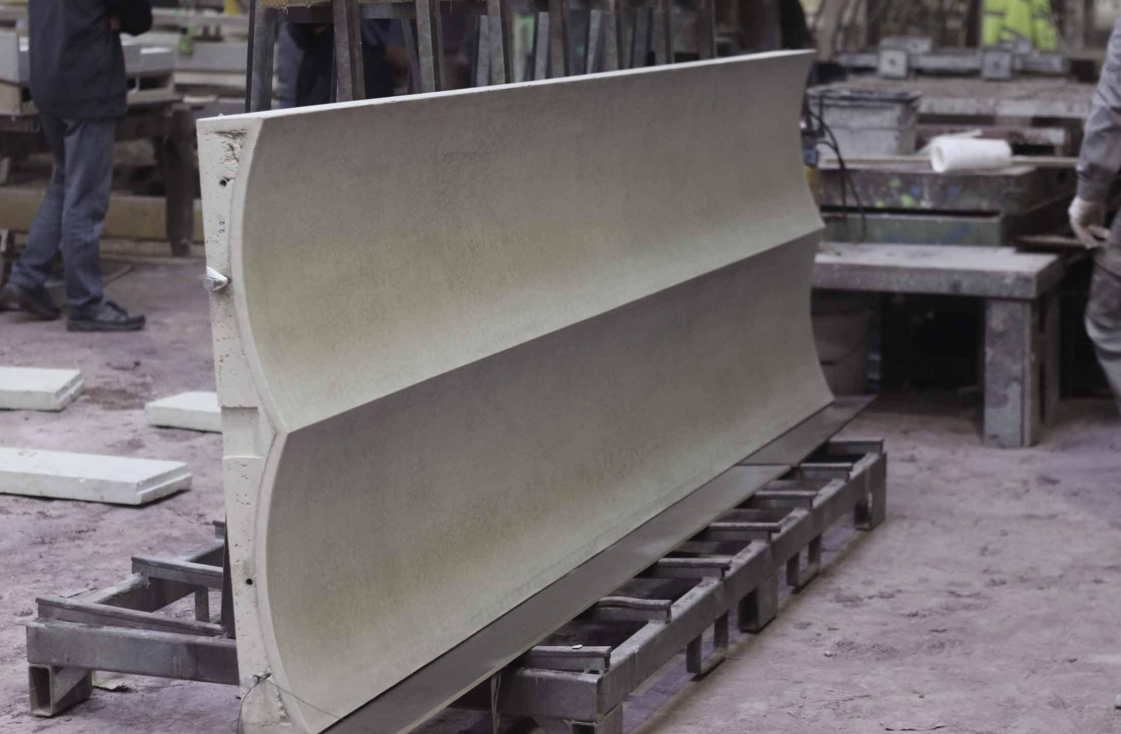 Bernsteincarré Fassade Herstellung