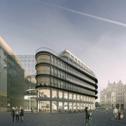 KLM Burgplatz Geschäftshaus Außenansicht