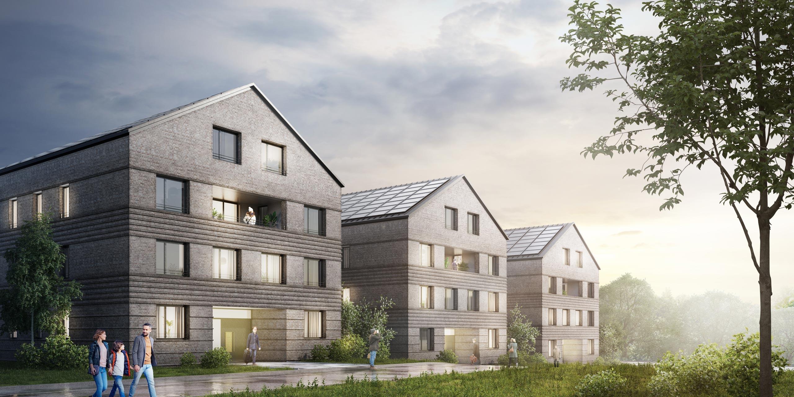 Wohungsbau Reiterhof Glücksgurg KLM Architekten Leipzig
