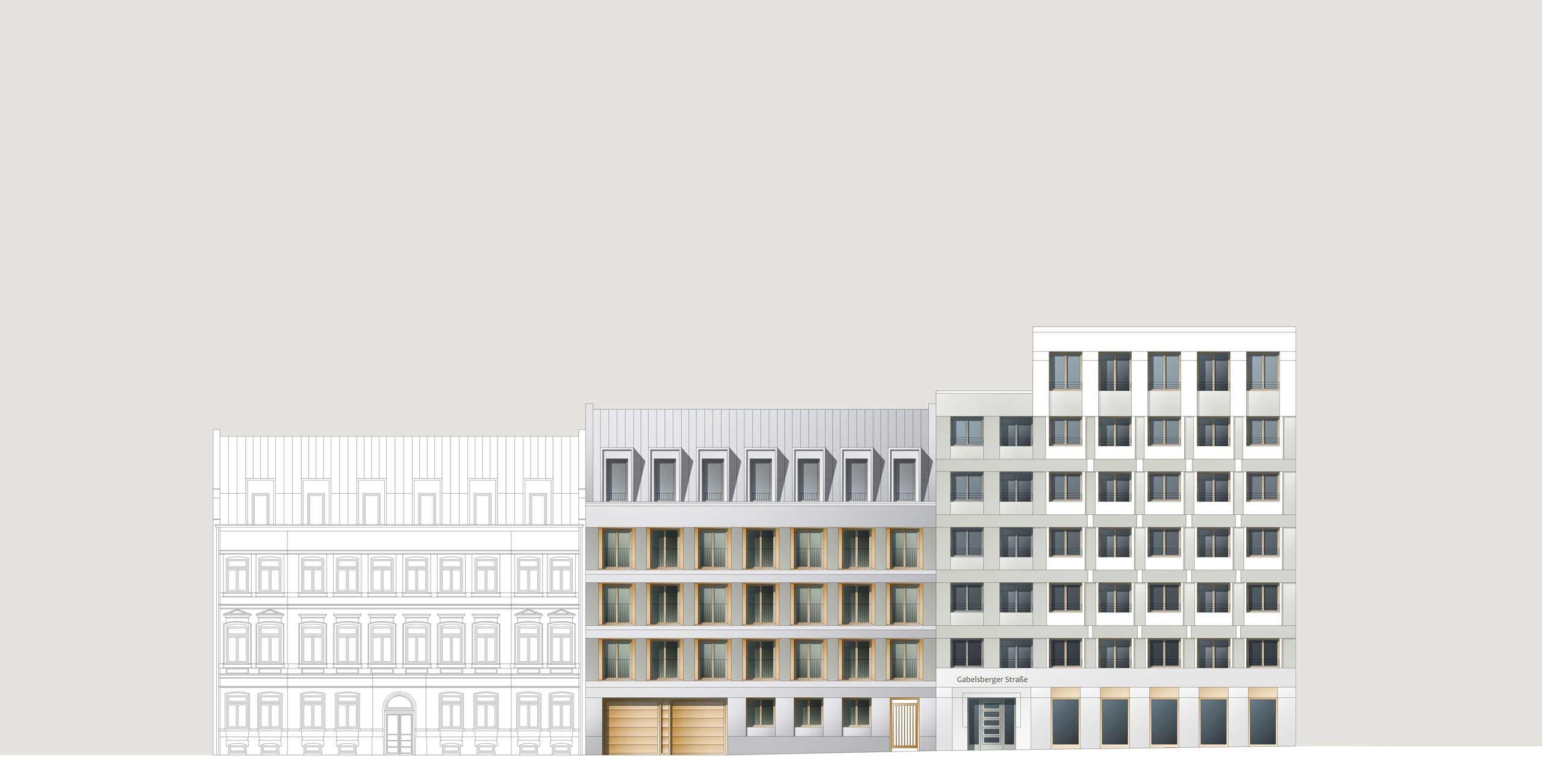 KLM Architekten Wohnungsbau Leipzig Dresdner Strasse Ansicht 02