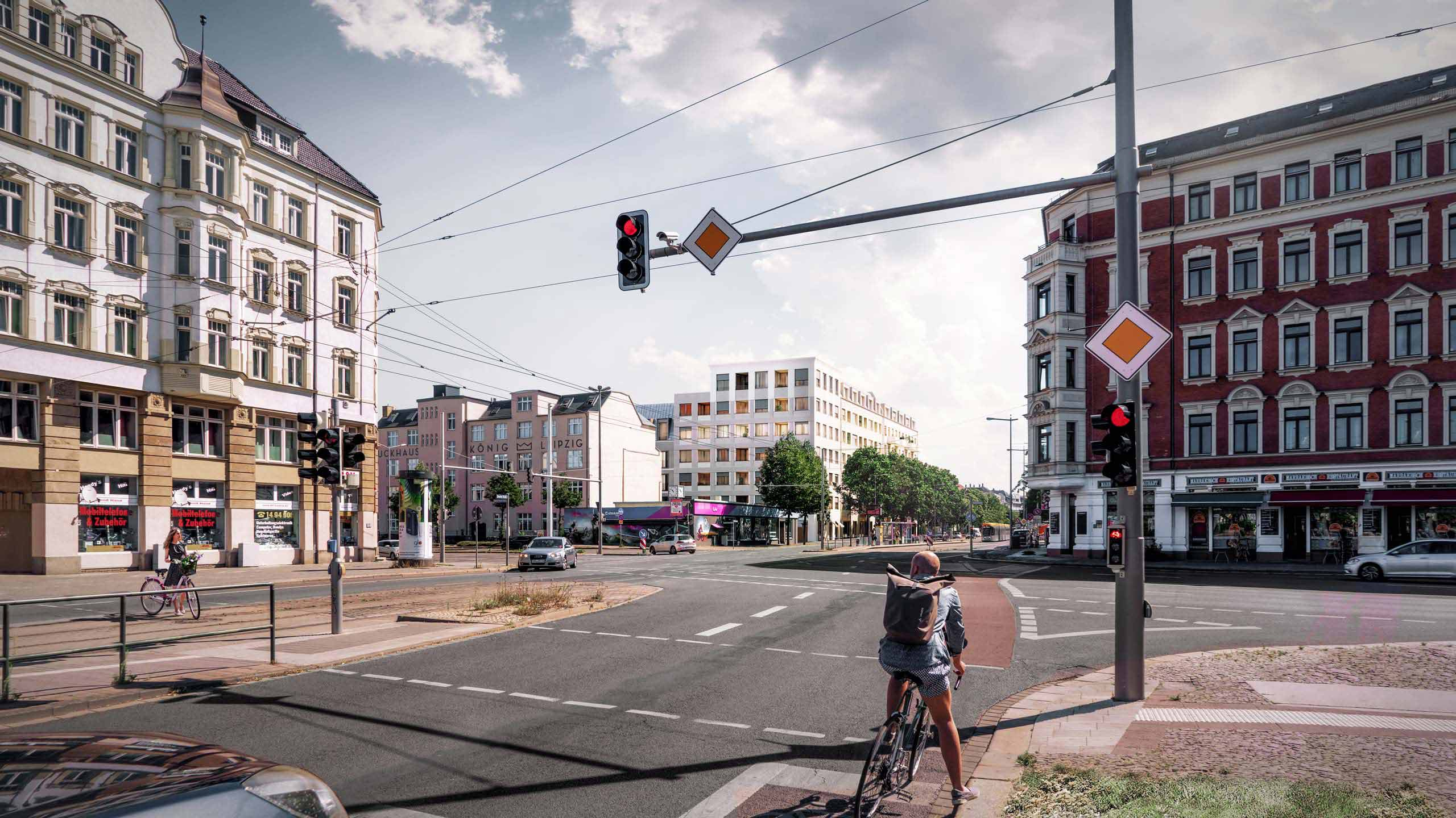 KLM Architekten Wohnungsbau Leipzig Dresdner Strasse Visualisierung 01