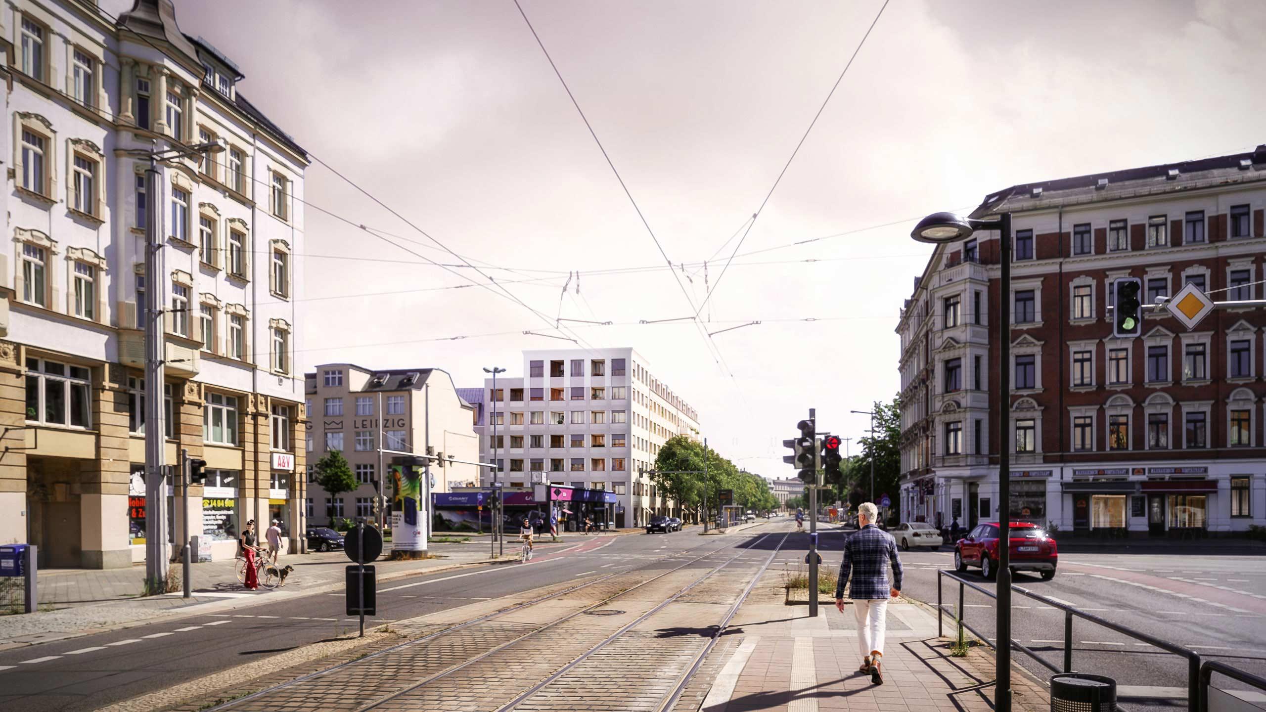 KLM Architekten Wohnungsbau Leipzig Dresdner Strasse Visualisierung 02