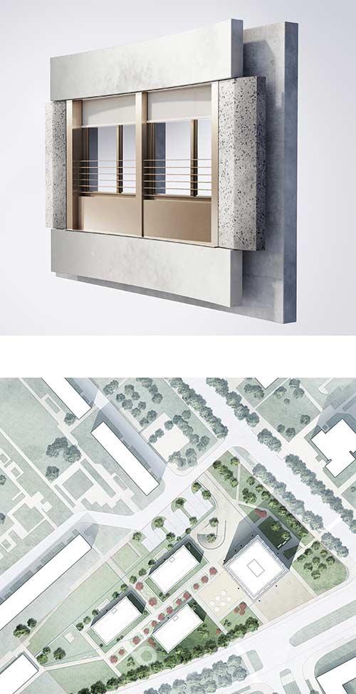 Hochhaus Semmelweisstrasse Leipzig Wohnungsbau KLM Architekten