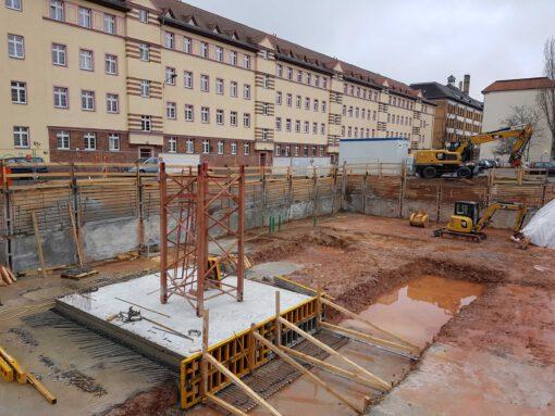Baufortschritt Wohngebäude Plagwitz